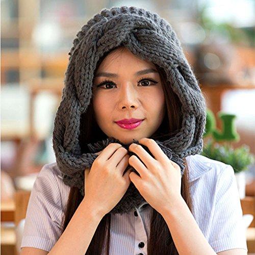 Sombrero Estrellas Maozi Coreana Mano Punto DEEPGRAY para Beige otoño señora Versión torcedura Corea de Sombreros Invierno r88PnS