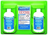 """PhysiciansCare 24-300 Wall Mountable Eye and Skin Flush Station with Two 32 oz Bottles, 13-1/2"""" L x 4"""" W x 6-1/2"""" H"""