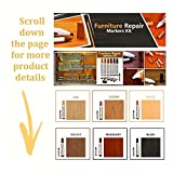 Furniture Repair Kit Wood Markers - Set Of 13 - Markers And Wax Sticks With Sharpener Kit, For Stains, Scratches, Wood Floors, Tables, Desks, Carpenters, Bedposts, Touch Ups, And Cover Ups - By Katzco
