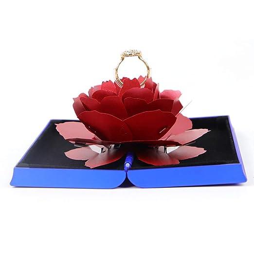 DoreenBow - Caja de Anillo de Boda giratoria Rosa para ...