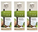 auto aroma - Enviroscent Autosticks Aroma Diffusers for Cars, Seaside Coconut, 3x Pack (9 Total Diffusers)