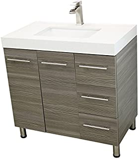Eviva EVVNWH Lugano Inch White Modern Bathroom Vanity - Modern free standing bathroom vanities