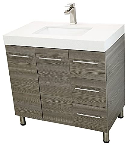 Swell Windbay 36 Free Standing Bathroom Vanity Sink Set Vanities Sink Taupe Grey Download Free Architecture Designs Scobabritishbridgeorg