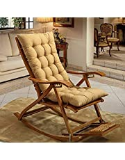 Springdoit Rocking Chair Cushion, Quilted Bench Cushion Padded Thicken Sofa Cushion Fashion Colorful Folding Chair Pads for Indoor Outdoor Patio Furniture Lounge Rattan (19x47inch)