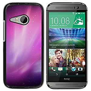 Paccase / SLIM PC / Aliminium Casa Carcasa Funda Case Cover para - Aurora Borealis Purple Night Sky Stars - HTC ONE MINI 2 / M8 MINI