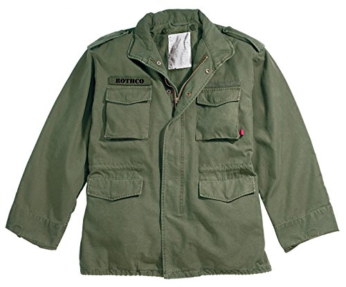 Rothco Vintage M-65 Field Jacket, Olive Drab, - Field Jacket Mens