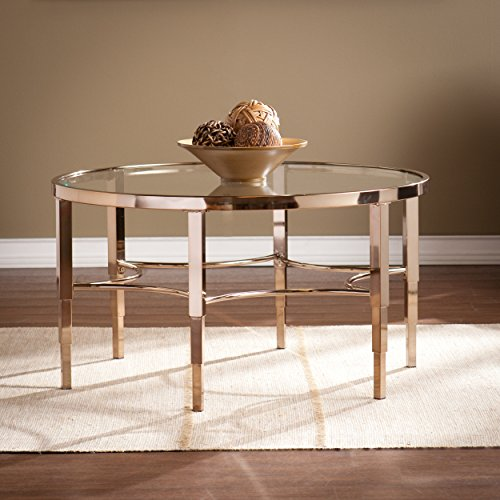 (Southern Enterprises Thessaly Cocktail Table, Metallic Gold)