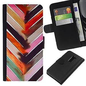 Planetar® Modelo colorido cuero carpeta tirón caso cubierta piel Holster Funda protección Para LG G2 / D800 / D802 / D803 / VS980 ( Arte de la acuarela Modelo rosado)