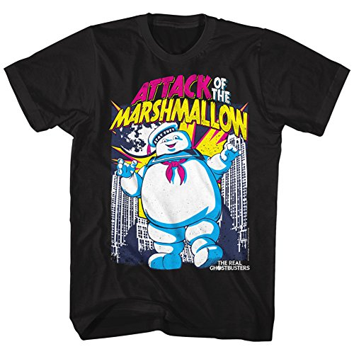 Adults The Real Ghostbusters Attack of the Marshmallow T-shirt, S to 6XL