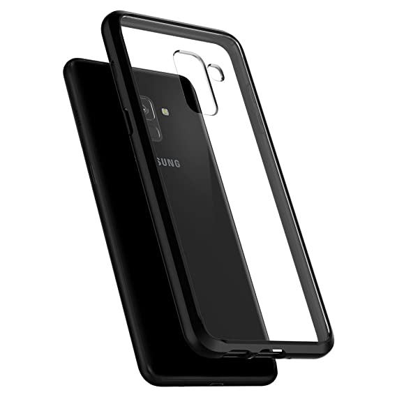 cheap for discount 3f789 195db Spigen Ultra Hybrid Galaxy A8 Case with Air Cushion Technology and Hybrid  Drop Protection for Galaxy A8 (2018) - Matte Black