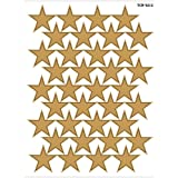 Teacher Created Resources Large Gold Foil Stars Stickers