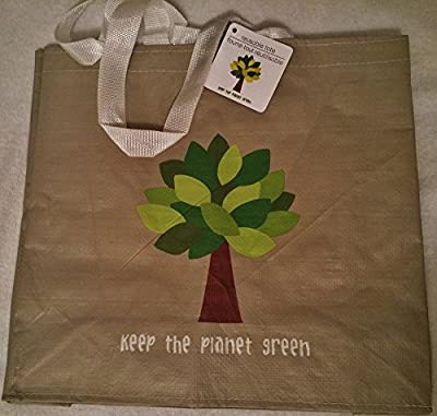Keep the Planet Green Reusable Tote Bag Groceries Shopping Eco Friendly 2-Pack