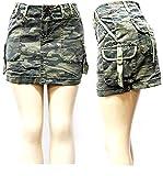 jack david womens Juniors Sexy Army camo Camouflage Denim jeans CARGO Mini skirt