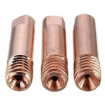 KUNSE 10 Pcs Mb-15Ak M6 Mig/mag Soldadura Antorcha Contacto Boquilla De Gas 0.8/1.0/1.2 Mm-1.2 Mm: Amazon.es: Hogar