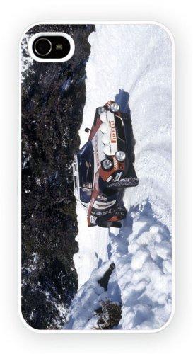 Lancia Stratos Snow, iPhone 4 4S, Etui de téléphone mobile - encre brillant impression
