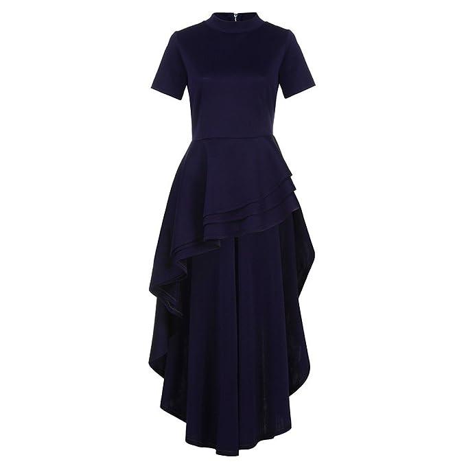 2018 La Mujer Cintura de Manga Corta Vestido de Fiesta Vestidos Casuales Vestidos Casual Vestido Cuello