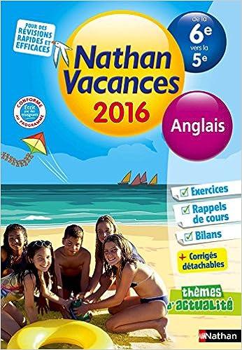 Amazon Fr Nathan Vacances Anglais De La 6e Vers La 5e