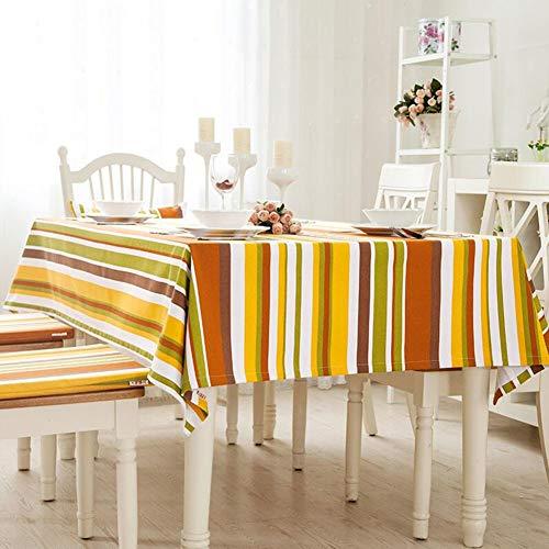 Orange 140200cm YQ QY Nappe Treillis Nappe De Table étanche à La Poussière Coton Et Lin Nappe De Table Multifonction Mode Simple Nappe De Table Grand Prougeection EnvironneHommestale Santé Cuisine Nappe Nappe