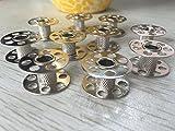 Veewon Domestic Sewing Machine Metal Bobbins for Bernina - 10 pack