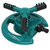 Automatic Lawn Sprinkler Heads For Lawn Garden Water Sprinklers 3600 Square Feet Coverage Rotation