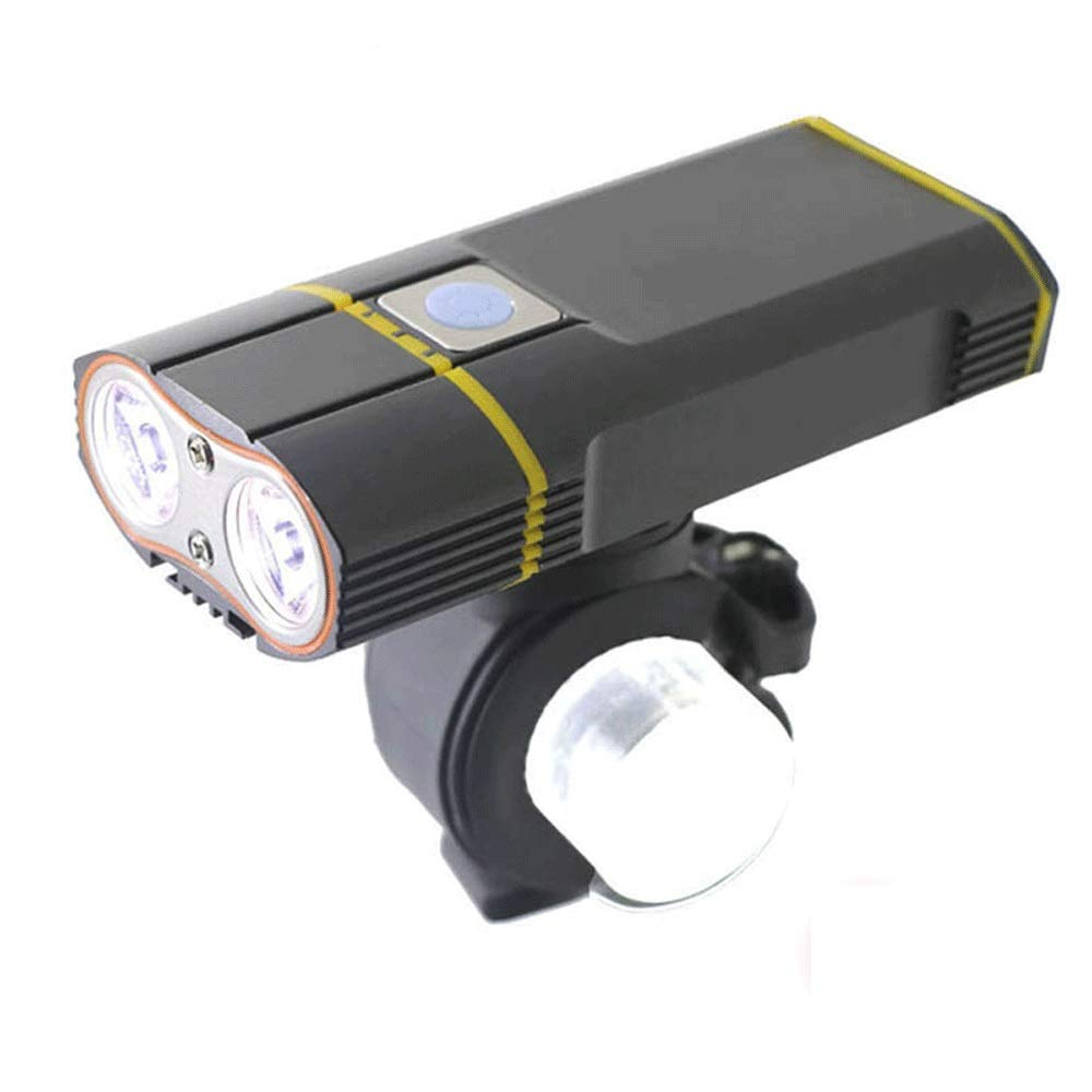 DFRgj Bike Light Set USB Rechargeable 6000LM Bike Light 2X XML-L2 LED Bicycle Lights with Rechargeable Battery Cycling Front Light +Handlebar Mount by DFRgj