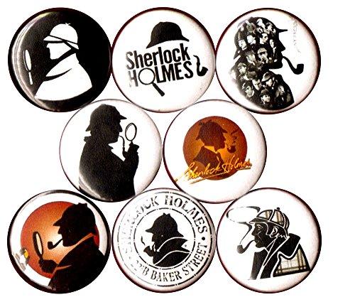 Robert Downey Jr Sherlock Holmes Costume (SHERLOCK HOLMES 8 NEW 1 inch pins buttons badge detective 221b baker st watson)