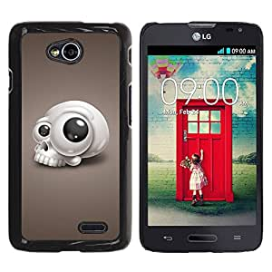 Paccase / SLIM PC / Aliminium Casa Carcasa Funda Case Cover para - Funny Goggly Eye Skull - LG Optimus L70 / LS620 / D325 / MS323
