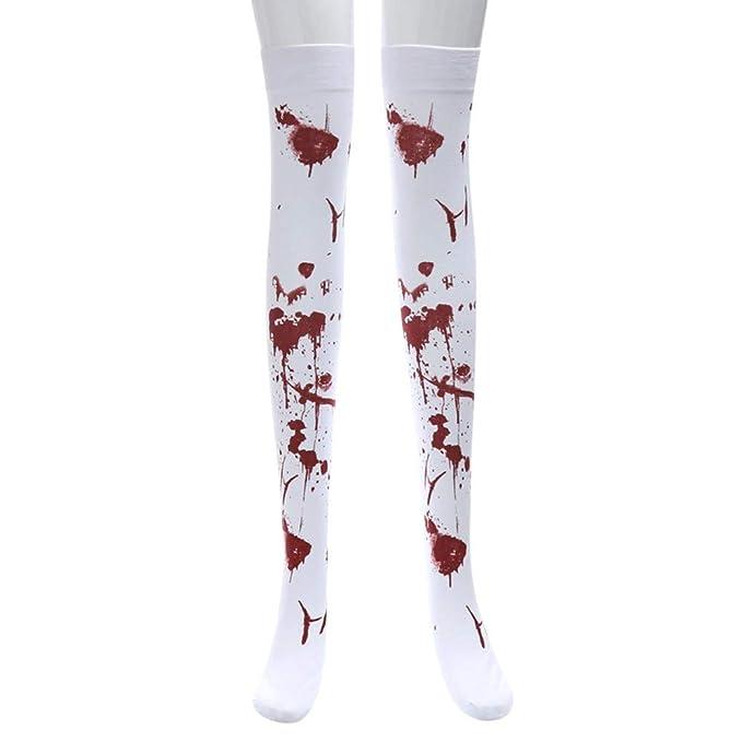 Mayogo Halloween Deko Damen Strumpfe Maskerade Gruselig Blut