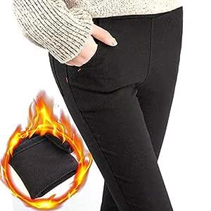 Warm, Fleece-Lined Women's Trousers Leggings with high Waist Stretch Winter