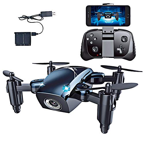 zuhafa Drone for Beginners, Mini RC Drone Camera 720P HD with Altitude Hold Mode, Portable Pocket Quadcopter Easy to Fly for Beginners, Great Gift for Birthday and Christmas