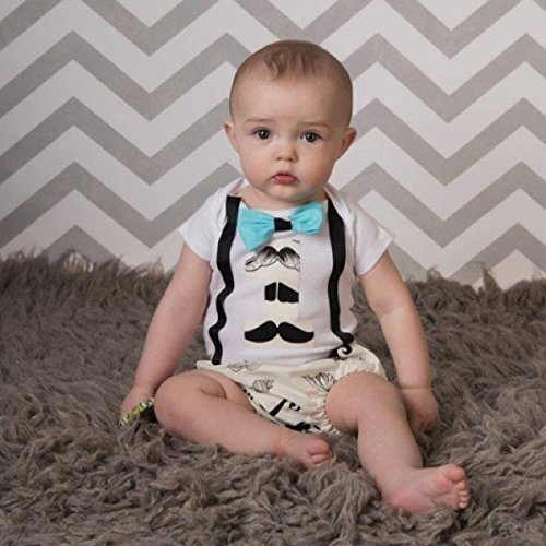 Amazon Mustache Boys First Birthday Cake Smash Outfit With