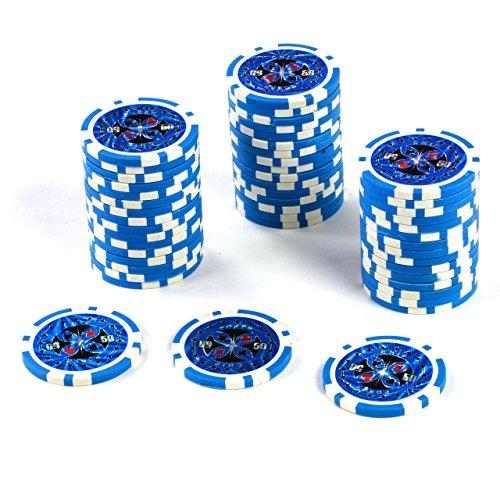 50 Poker Chips Wert 50 11g für Pokerkoffer