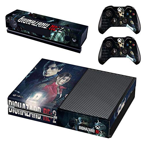 Xbox One Skin Set - Resident Evil 2 Remake HD Printing Skin Cover Protective for Xbox One Console, Kinect & 2 Controller by Mr Wonderful Skin