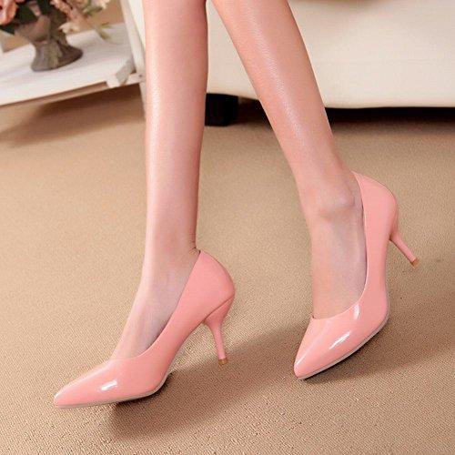MissSaSa Donna Scarpe col Tacco Gattino Dolce e Elegante (34, rosa)