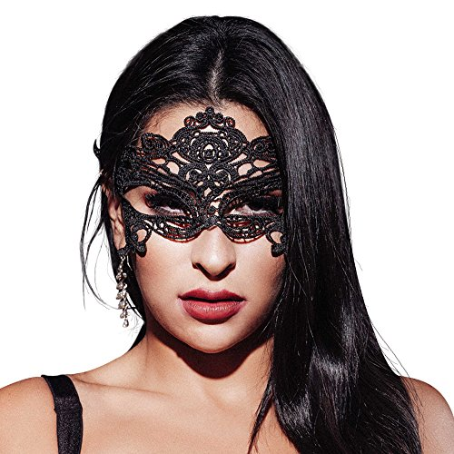 Masquerade Mask Women Lace Masquerade Ball Mask Venetian Swan Mardi Gras Halloween Costume Party -