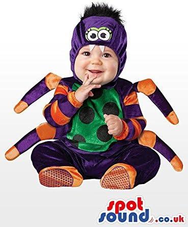 かわいいハロウィーンスパイダー赤ちゃん子供サイズコスチューム変装