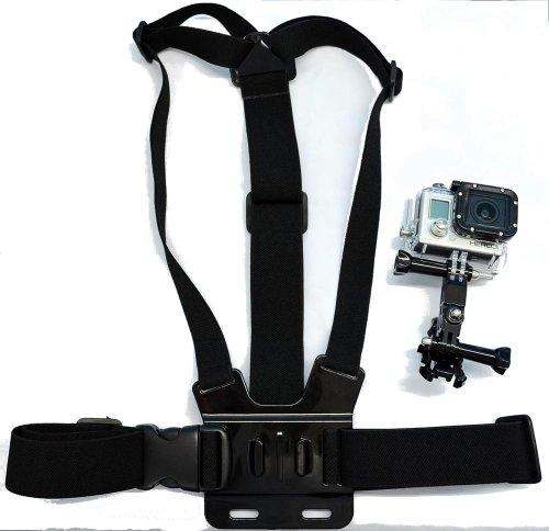 Navitech Adjustable Elastic Body Chest Strap Mount Belt Harness for TheGoXtreme Barracuda 4K Action Camera