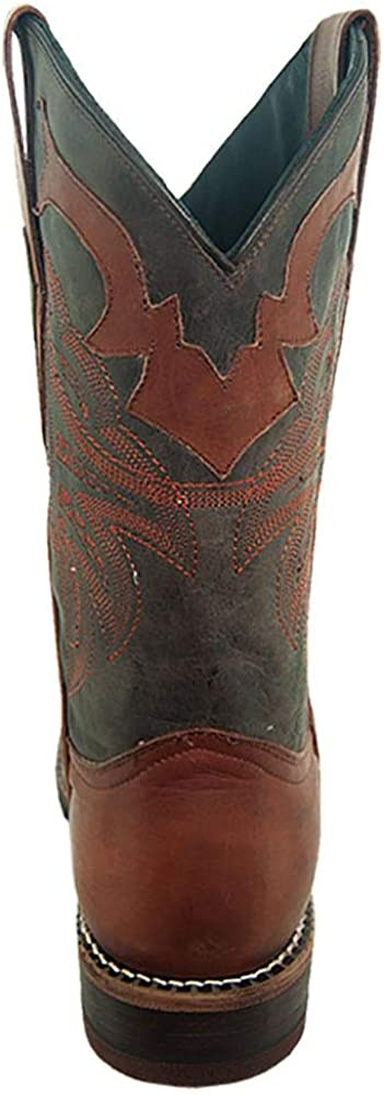Soto Boots Mens Distressed Leather Broad Square Toe Cowboy Boots H4013