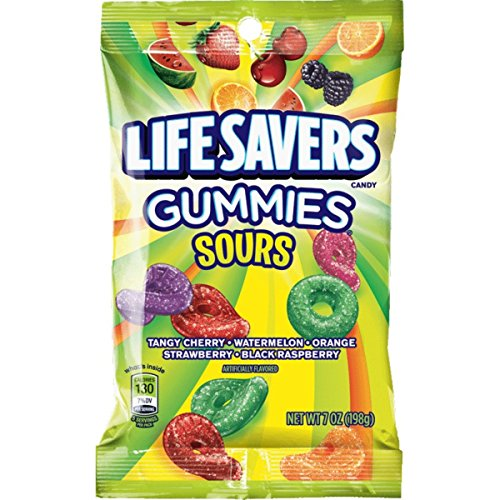 Life Savers Sours Gummies Candy Bag, 7 -