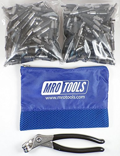 250 5/32 Heavy Duty Cleco Fasteners + Cleco Pliers w/ Carry Bag (KHD1S250-5/32) by MRO Tools Cleco Fasteners