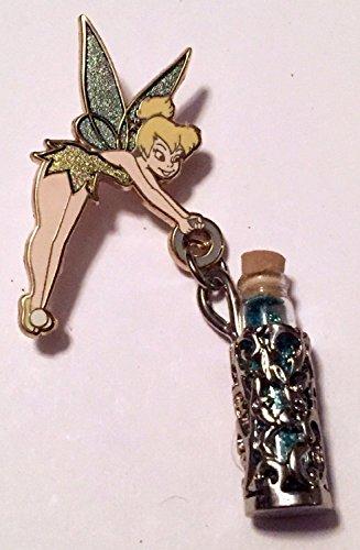 Authentic Disney pin Tinker Bell Holding Vial Bottle of Pixie Fairy Dust Glitter
