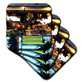3dRose Jos Fauxtographee- Autumn in Store Window - A store front with an Fall look in the window of harvest - set of 8 Coasters - Soft (cst_293913_2)