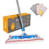 HAPINNEX Hardwood Dust Microfiber Floor Mop - 4 Washable & Reusable Microfiber Flat Mop Cloths/Pads - For Home Kitchen Bathroom Cleaning - Wet or Dry Usage on Hardwood, Laminate & Tile