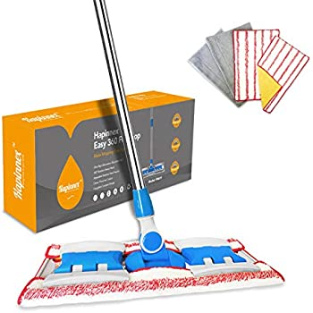 Amazon Com Hapinnex Hardwood Dust Microfiber Floor Mop