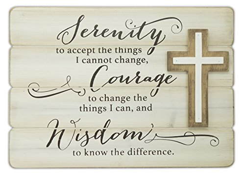 Abbey Gift Serenity Cross Plank Wall Plaque ()