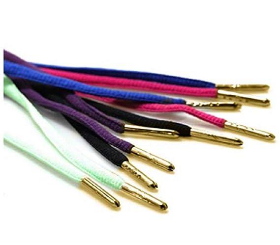 ForuMall 1 Par Shoelace Punta Herrete Extremos Bullet Cerradura de Metal Clips Repuestos para Zapatos Encaje