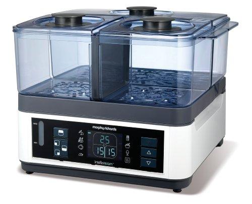 Morphy Richards Intellisteam Food Steamer 8.2L 48781 Digital Display White...