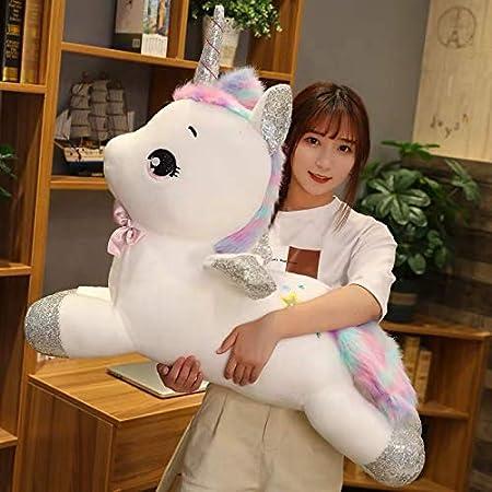 tianluo Juguete de Peluche 60 Cm Fantasic Rainbow Wings Unicorn Toy Baby Girl Apaciguar Almohada para Dormir Caballo Animales Muñecas Juguetes para Niños