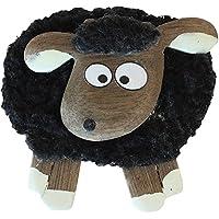 Dublin Gift Fluffy Sheep Magnet Shocked, Black