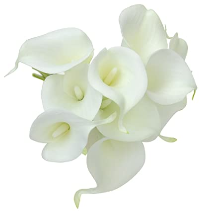Amazon 20pcs Calla Lily Artificial Flowers For Wedding Home